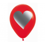 Teardrop Fashion Red Love with Metal Ink Heart Latex Balloons 30cm Pack of 12