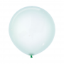 Crystal Pastel Green Latex Balloons 60cm Pack of 3