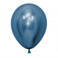 Metallic Reflex Blue Latex Balloons 30cm Pack of 12