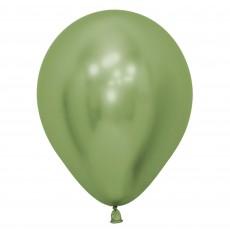 Metallic Reflex Lime Green Latex Balloons 12cm Pack of 50