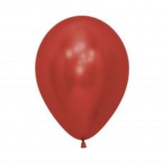 Teardrop Crystal Reflex Red Latex Balloons 12cm Pack of 50