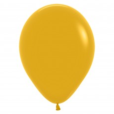 Yellow Party Decorations - Latex Balloon Fashion Mustard 12cm Teardrop