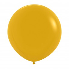 Yellow Party Decorations - Latex Balloons Fashion Mustard 60cm
