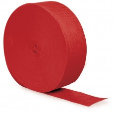 Classic Red Crepe Streamer 24.68m