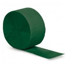 Hunter Green Crepe Streamer 24.68m