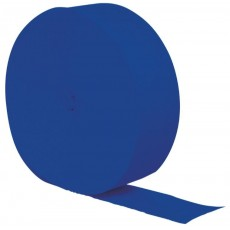 Cobalt Blue Crepe Streamer