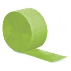 Fresh Lime Green Crepe Streamer