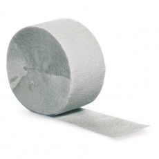 Shimmering Silver Crepe Streamer 24.68m