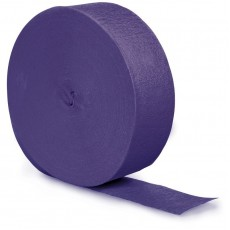 Purple Crepe Streamers 24.68m