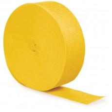 Yellow Crepe Streamers 24.68m School Bus Yellow