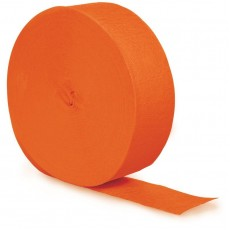 Orange Crepe Streamers 24.68m Sunkissed Orange