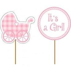 Baby Shower - General Cake Picks Pink Pack of 12