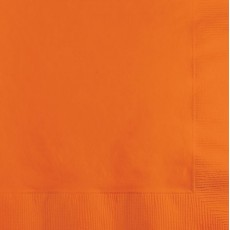 Sunkissed Orange Beverage Napkins 25cm x 25cm Pack of 50