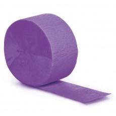 Purple Crepe Streamers 24.68m Amethyst Purple