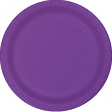 Amethyst Purple Paper Banquet Plates 26cm Pack of 24