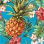 Hawaiian Luau Aloha Luau Pineapple & Flowers Lunch Napkins Pack of 16