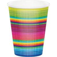 Caliente Paper Cups 266ml Serape Pack of 8