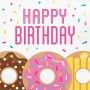 Donut Time Happy Birthday Lunch Napkins Pack of 16