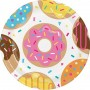 Round Donut Time Paper Dinner Plates 22cm Pack of 8