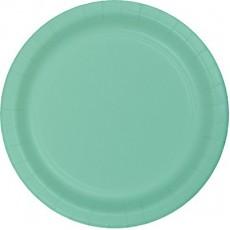 Fresh Mint Green Celebrations Paper Dinner Plates 22cm Pack of 8