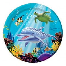 Ocean Party Dinner Plates 23cm Pack of 8
