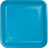 Blue Lunch Plates 18cm Turquoise Pack of 18