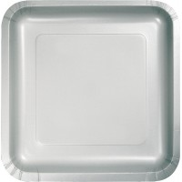 Silver Lunch Plates 18cm Shimmering Silver Pack of 18