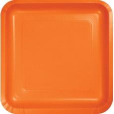 Orange Dinner Plates 23cm Sunkissed Orange Pack of 18