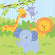 Forest Friends Lunch Napkins 33cm x 33cm Pack of 16