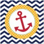 Ahoy Matey Lunch Napkins 33cm x 33cm Pack of 18