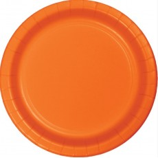 Sunkissed Orange Paper Lunch Plates 18cm Pack of 24