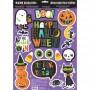 Halloween Hallo-ween Friends Glitter Window Misc Decoration 43cm x 30cm
