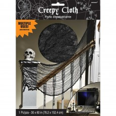 Halloween Party Supplies - Misc Decorations - Creepy Black Cloth