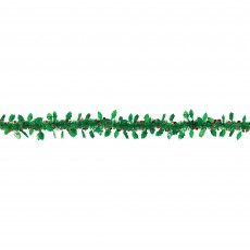 Christmas Party Decorations - Garland Holy & Berries Foil Tinsel