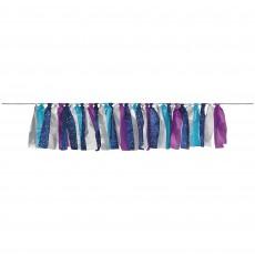 Sparkling Sapphire Party Decorations - Garland Tassel Ribbon