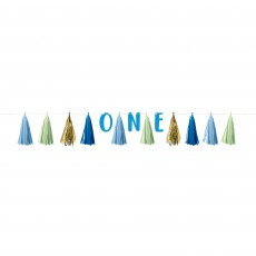Boy's 1st Birthday Party Supplies - Garland Tassel ONE