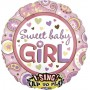 Round Baby Shower - General Sing-A-Tune XL Sweet Baby Girl Singing Balloon