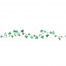 St Patrick's day Shamrock Wire Garland 3.65m