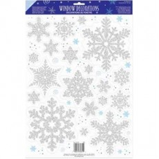 Christmas Snowflake Window Misc Decoration 45cm x 30cm