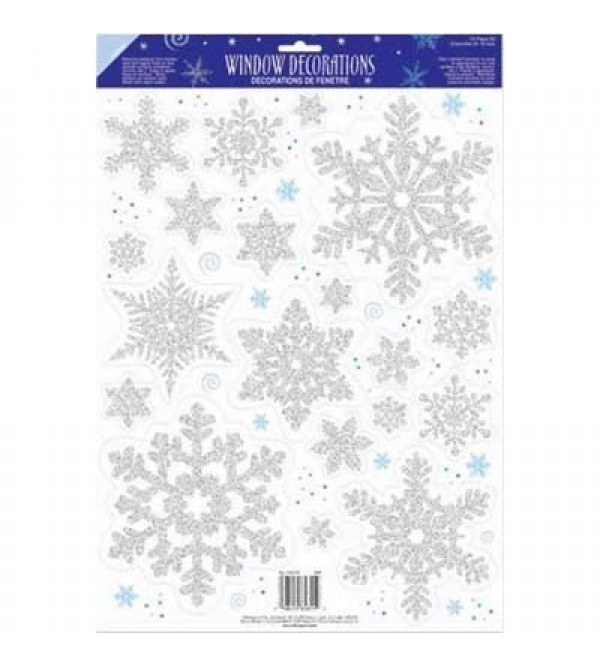 Christmas Snowflake Window Misc Decoration 45cm x 30cm
