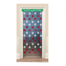 Christmas Seasons Greetings Snowflakes Door Decoration