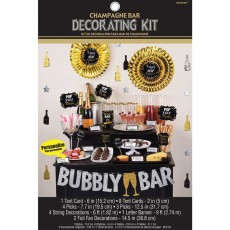 New Year Champagne Bar Glittered Decorating Kit