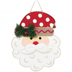 Christmas Santa Deluxe Hanging Decoration 34 cm x 27cm