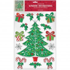 Christmas Party Decorations - Traditional Christmas Tree & Assorted