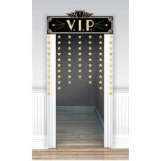 Glitz & Glam Door Decorations Black & Gold V.I.P.