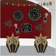Glitz & Glam Decorating Kits Black & Gold Room Decorations