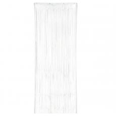 White Metallic Curtain Door Decoration 2.4m x 91cm