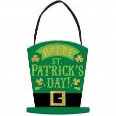 St Patrick's day Mini Message MDF Sign Hanging Decoration 15.2cm x 15.2cm