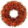 Orange Party Decorations - Tinsel Wreathe