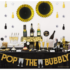 New Year Deluxe Bubbly Bar Glittered Decorating Kit